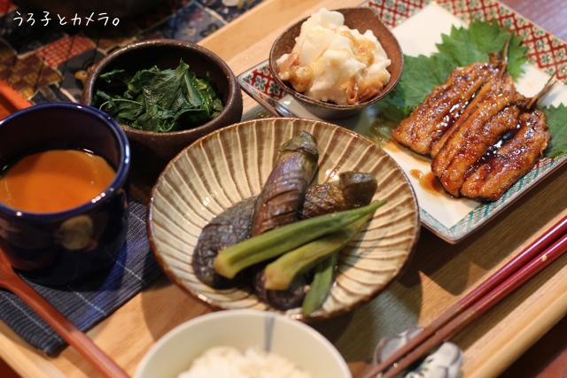 鰯の蒲焼き。鮭とレタスの炒飯。_f0348831_07420933.jpg