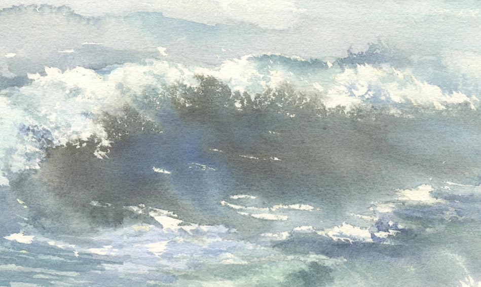 海 水彩画  The Sound of Sea_f0176370_17451665.jpg