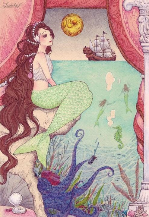人魚姫の物語 <つれづれイラストレーション54>_f0228652_1921338.jpg