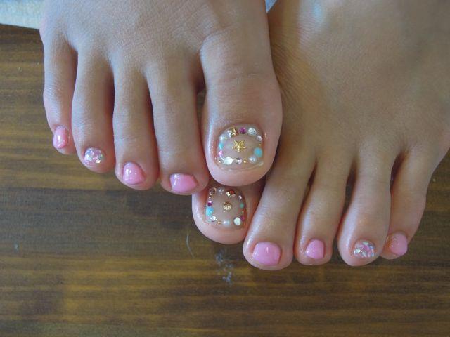Pink Foot Nail_a0239065_14214573.jpg