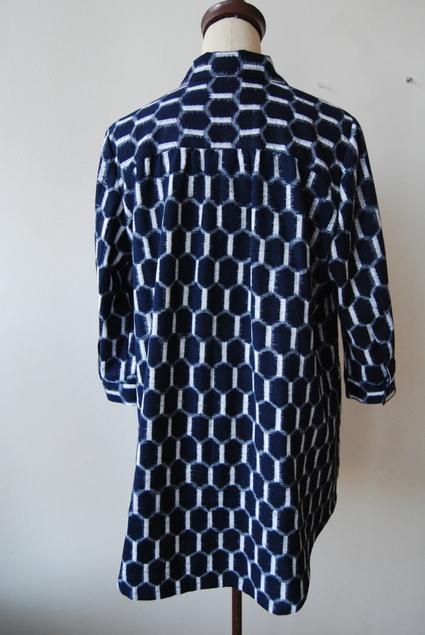 着物リメイク・木綿のお着物からロングシャツ_d0127925_14132415.jpg