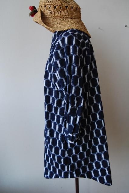 着物リメイク・木綿のお着物からロングシャツ_d0127925_14134476.jpg