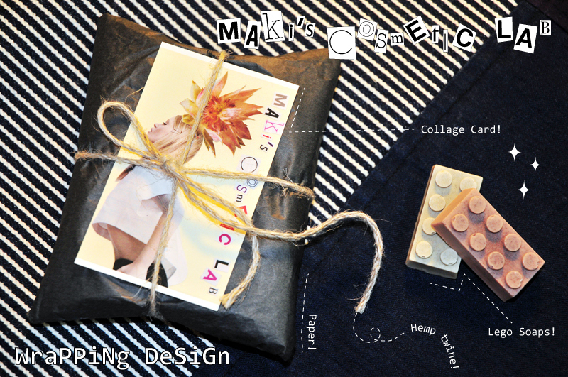 "Wrapping DESIGN by \""Maki\'s Cosmetic Lab\"":マキコスメラボのラッピングデザイン「レゴソープ贈答術」。_d0018646_030924.jpg"