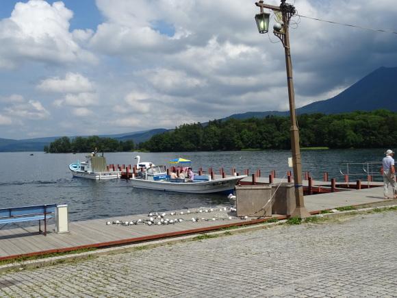 9)阿寒湖でモーターボート_b0236665_15052965.jpg