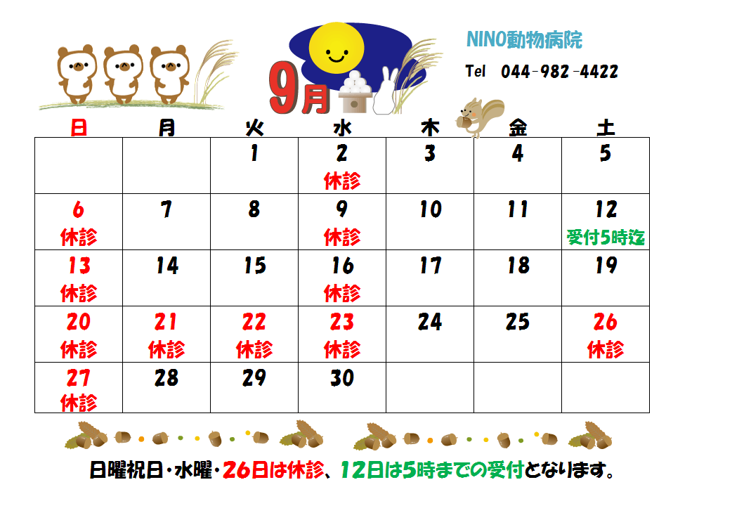 9月の診療日のおしらせ☆_e0288670_16384588.png