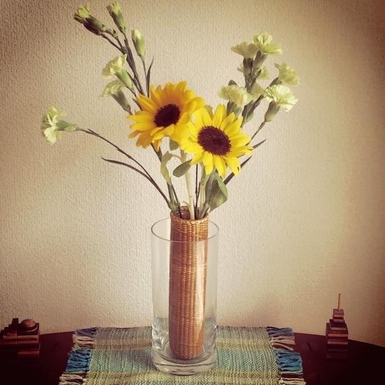 Sunflowers in Nantucket Basket vase_f0197215_21302844.jpg