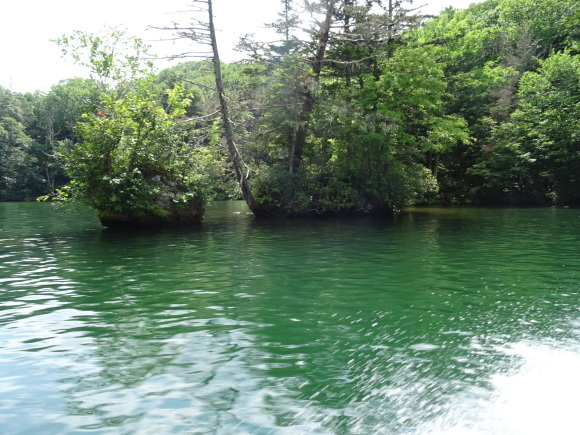 9)阿寒湖でモーターボート_b0236665_06390774.jpg