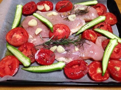 鶏むね肉とトマトのオーブン焼き_d0122797_23405548.jpg
