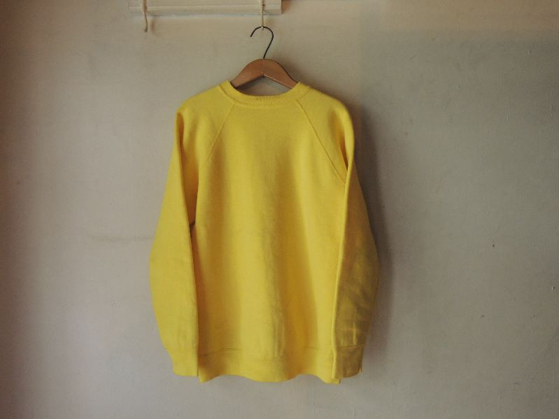 60S~ SOLID SWEAT SHIRT YELLOW--RECOMMEND--_c0176867_14262787.jpg