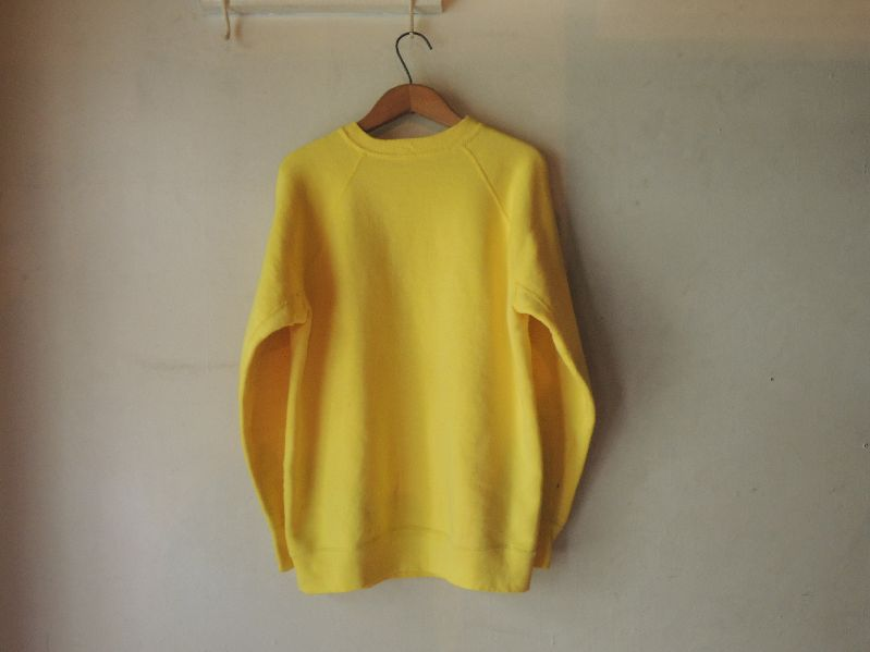 60S~ SOLID SWEAT SHIRT YELLOW--RECOMMEND--_c0176867_14263559.jpg