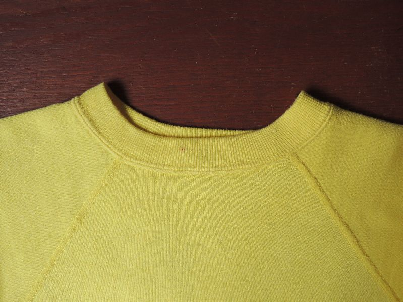 60S~ SOLID SWEAT SHIRT YELLOW--RECOMMEND--_c0176867_14495872.jpg
