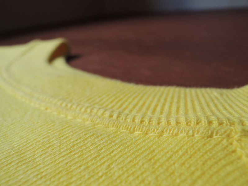 60S~ SOLID SWEAT SHIRT YELLOW--RECOMMEND--_c0176867_14501070.jpg