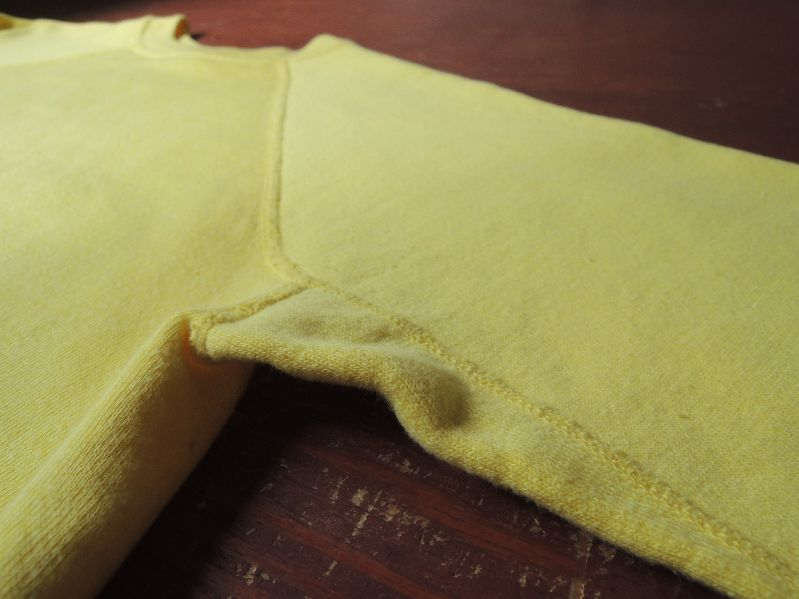 60S~ SOLID SWEAT SHIRT YELLOW--RECOMMEND--_c0176867_1454131.jpg