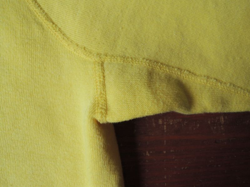 60S~ SOLID SWEAT SHIRT YELLOW--RECOMMEND--_c0176867_14541461.jpg