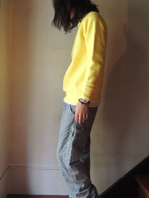 60S~ SOLID SWEAT SHIRT YELLOW--RECOMMEND--_c0176867_15125015.jpg