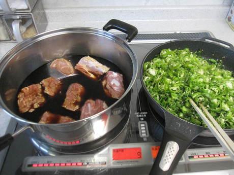 南蛮やしし唐で定番の常備菜作り_a0279743_1442259.jpg