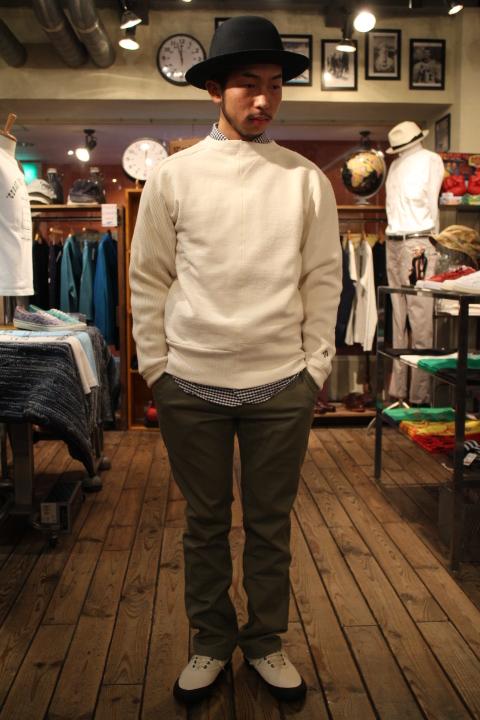 "Nigel Cabourn \""Army Crew Jersey Mix Sweatshirt\""_b0121563_18411512.jpg"