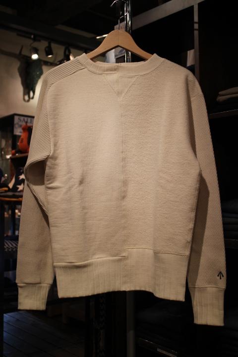 "Nigel Cabourn \""Army Crew Jersey Mix Sweatshirt\""_b0121563_20234584.jpg"