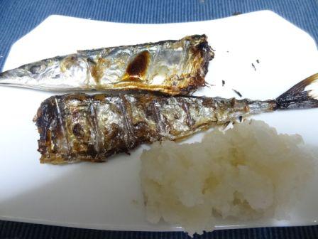 新秋刀魚の塩焼き_b0017215_19512934.jpg