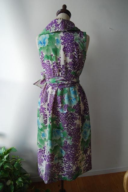 着物リメイク・絽から大きな襟のカシュクールワンピ_d0127925_105812.jpg