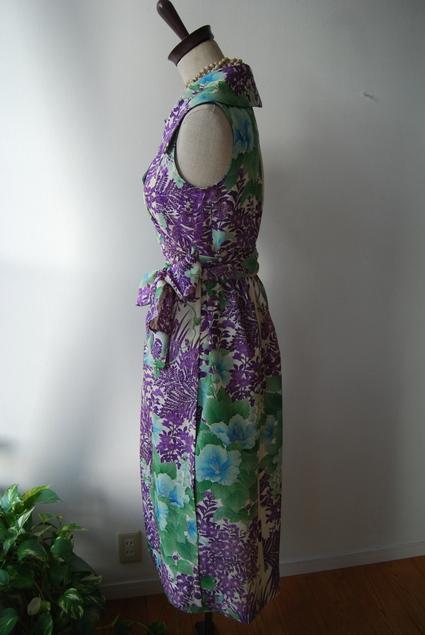 着物リメイク・絽から大きな襟のカシュクールワンピ_d0127925_10582554.jpg
