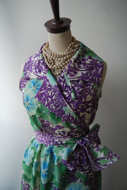 着物リメイク・絽から大きな襟のカシュクールワンピ_d0127925_10591039.jpg