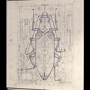 甲虫切手制作記料理人・5_f0152544_2315147.jpg