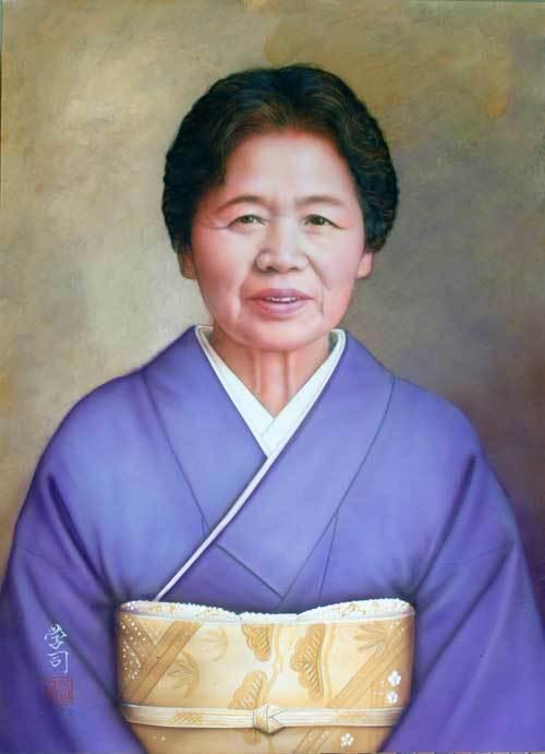 敬老の日の贈り物に肖像画は最高_b0174462_09254416.jpg