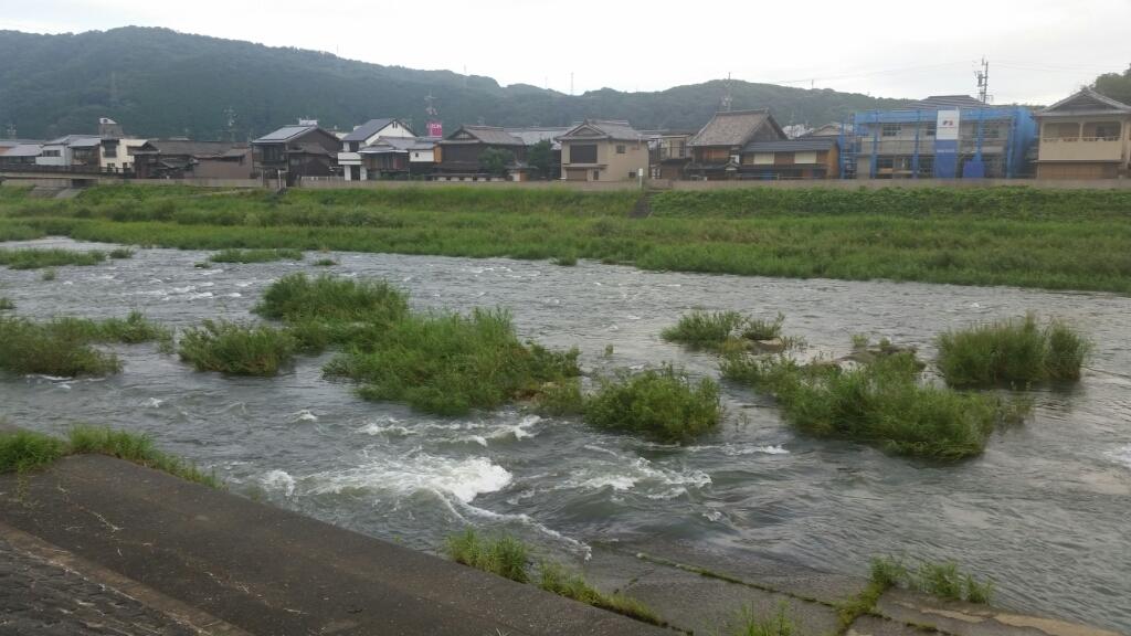 8月27日午前7時の河川状況。_c0266737_07211107.jpg