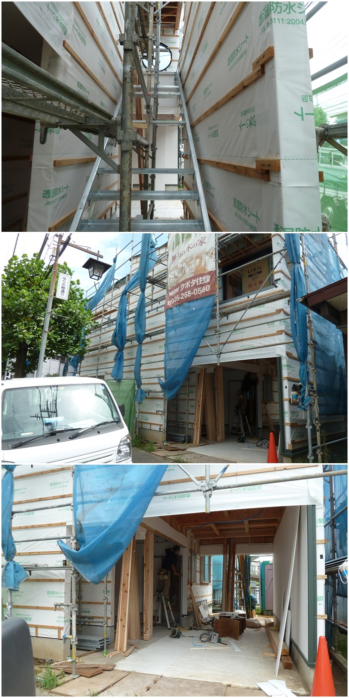 厚木市の家☆大工工事も順調に進行中_c0152341_86333.jpg