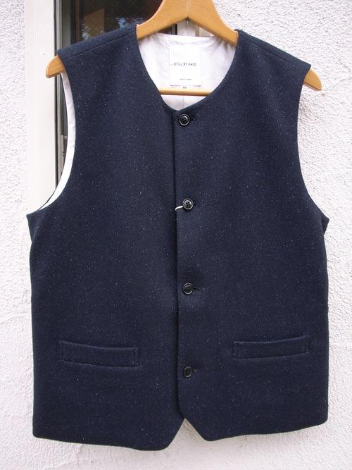 STILL BY HAND ウール と シルク のジャケット と ベスト_d0334060_14363585.jpg