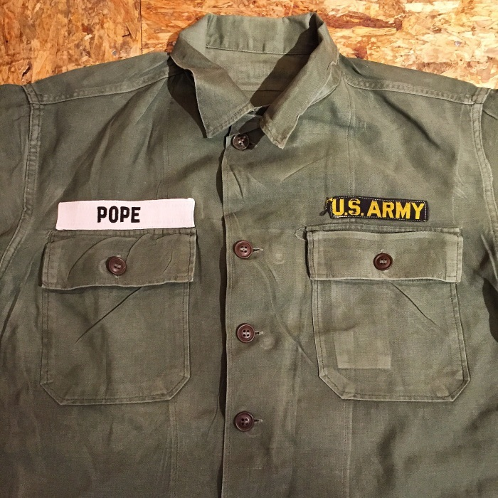 今日のイチ押し!!『US ARMY Utility Shirt』_b0121563_21330097.jpg
