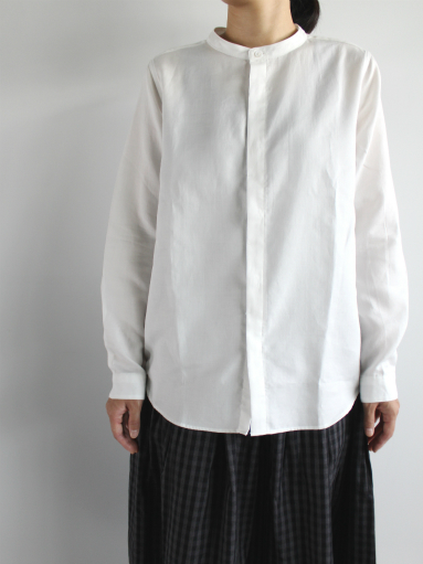 niuhans Double Cloth CottonStand Collar Shirt (LADIES ONLY)_b0139281_14492278.jpg