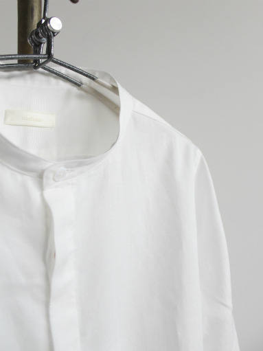 niuhans Double Cloth CottonStand Collar Shirt (LADIES ONLY)_b0139281_14493427.jpg