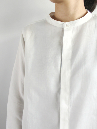 niuhans Double Cloth CottonStand Collar Shirt (LADIES ONLY)_b0139281_14494479.jpg