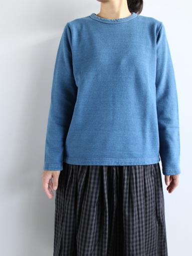 niuhans Indigo Dye L/S Sweat Shirt_b0139281_1530217.jpg