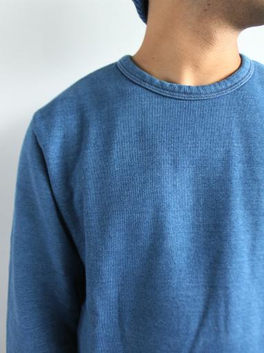 niuhans Indigo Dye L/S Sweat Shirt_b0139281_15303961.jpg
