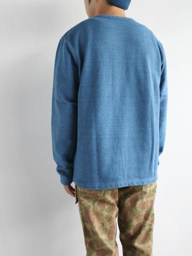 niuhans Indigo Dye L/S Sweat Shirt_b0139281_15311225.jpg