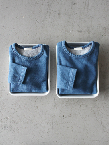 niuhans Indigo Dye L/S Sweat Shirt_b0139281_15383910.jpg