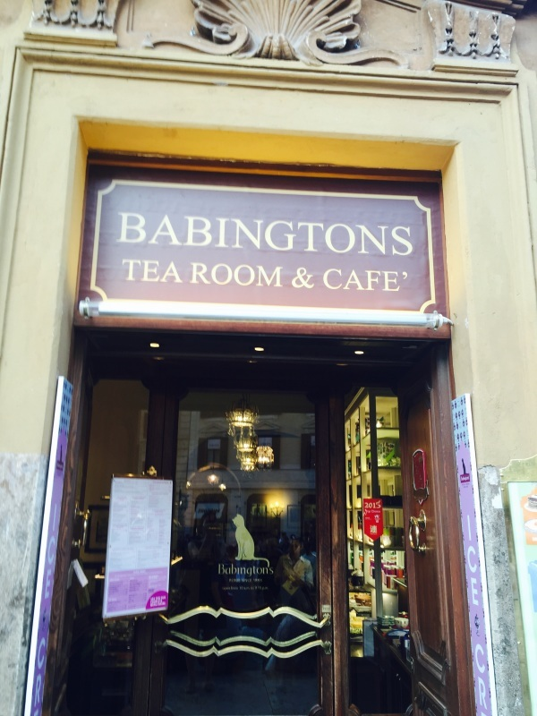 Babington\'s  English tea rooms   (ローマのティールーム)_c0366777_05273152.jpg
