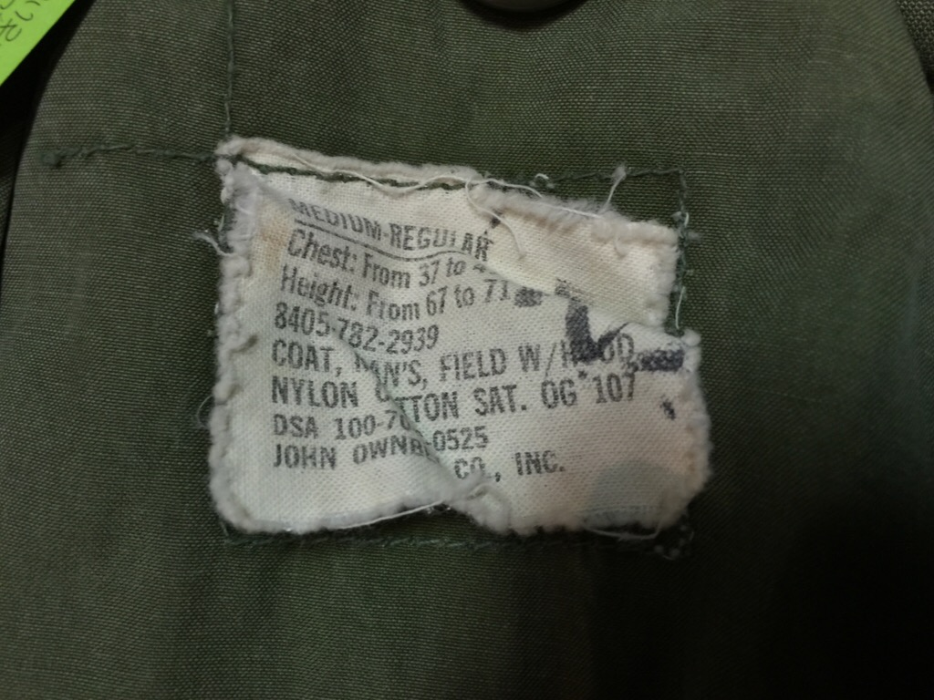 神戸店8/29(土)秋物ヴィンテージ入荷!#6 M-41 Field JKT,US.Army Item!!!(T.W.神戸店)_c0078587_1232052.jpg