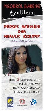 インドネシアの作家・アユ・ウタミを囲んで文学討論会:Ngobrol bareng Ayu Utami@ソロ_a0054926_6454687.jpg