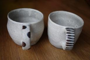 ①流木のマグカップと陶製マグカップ=長野県・G&MWorks_f0226293_9204267.jpg