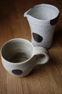 ①流木のマグカップと陶製マグカップ=長野県・G&MWorks_f0226293_922440.jpg