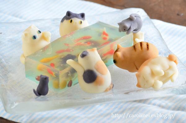 「猫ぐらし」夏号掲載の、夏らしい猫スイーツ Laura\'s Japanese Summer Cat Cakes_d0025294_1723626.jpg