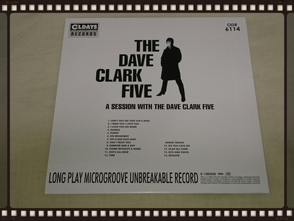 THE DAVE CLARK FIVE / A SESSION WITH THE DAVE CLARK FIVE 紙ジャケ _b0042308_18445415.jpg