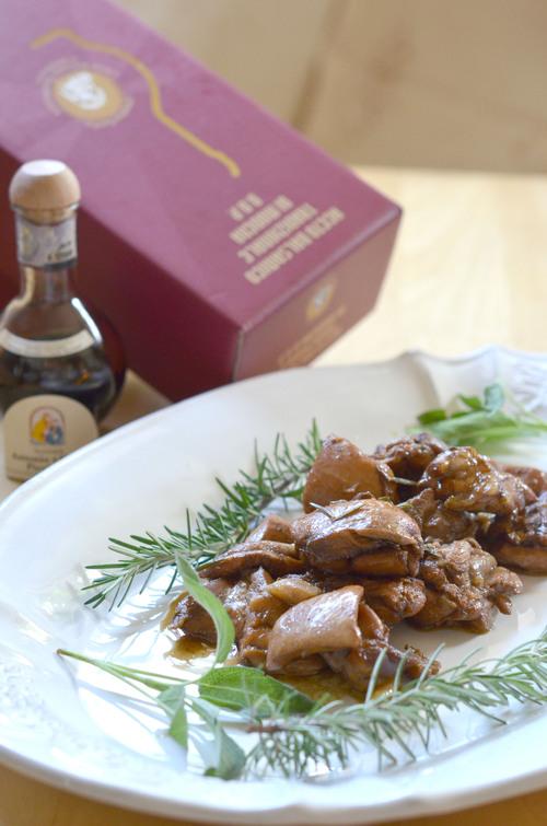 バルサミコ酢を使った鶏肉の料理_a0317019_1383430.jpg