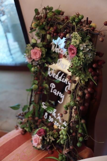 夏の装花 ラ・ビュット・ボワゼ様へ 小高い丘、樹木に囲まれて_a0042928_13254051.jpg