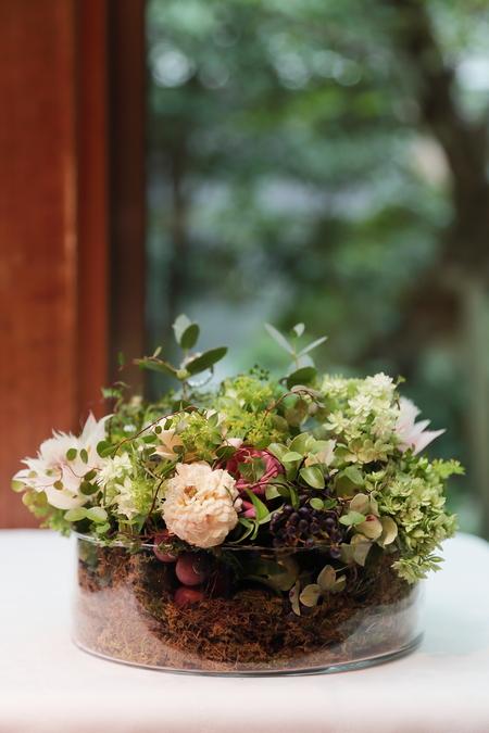 夏の装花 ラ・ビュット・ボワゼ様へ 小高い丘、樹木に囲まれて_a0042928_13272019.jpg