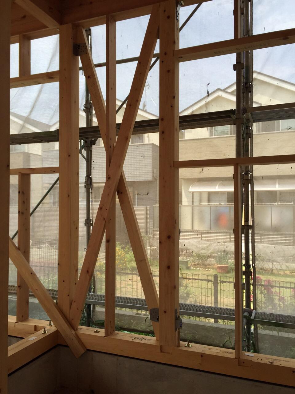 「大屋根の家」進捗状況です。8/28_e0215179_10433839.jpg